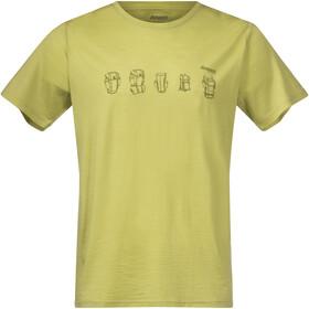 Bergans Backpack Camiseta de Lana Hombre, verde